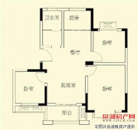 虞枫家园 3室2厅1卫 89平 全新精装 三开间朝南 地面朝南车库20平 188万房源相册