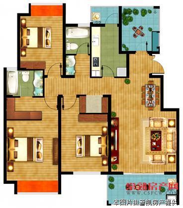 弘阳尊邸 3室2厅2卫 133平送20平 精装 楼层好宋送书房 满2年 300万有钥匙