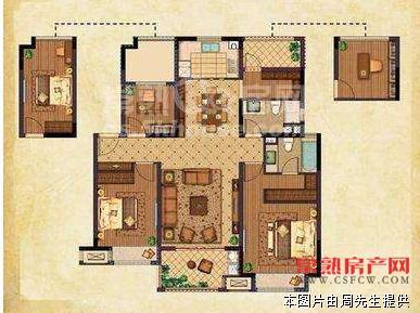 香溢璟庭【花园洋房】119平方、4室2厅2卫、全新白坯、275万