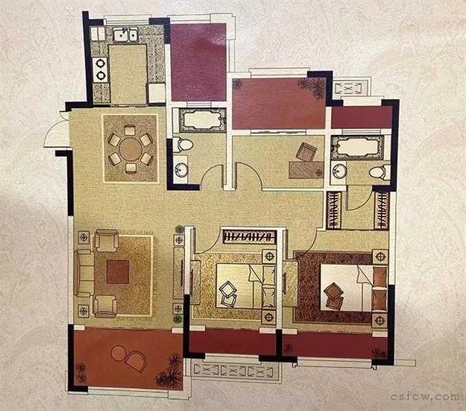 中南世纪城,120+18平,好房子,位置好,精装,306万