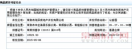 沁香园26、27、33、36幢通过预售许可审批