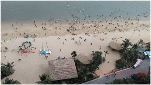 感受真实的碧桂园 媒体采风团空降十里银滩