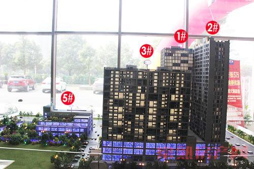 汇丰时代广场售楼中心内部沙盘实景曝光