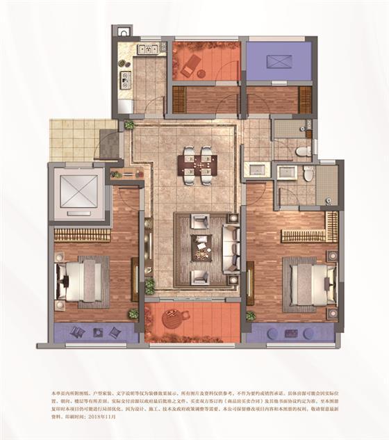 紫誉华庭108-143㎡网传户型图首曝光