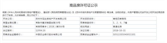 香悦四季雅苑1、2、6、7、9、10、11幢2018-10-31通过预售许可