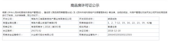 湖语尚院1、2、7-12、15、16、22、23、39、42幢2018-12-20通过预售许可