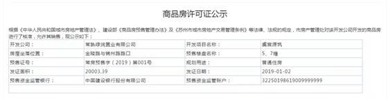 新年2019首张预售证 大义绿都虞宸源筑1.3认筹盛启