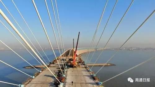沪通铁路最新消息,大桥完成斜拉索建设