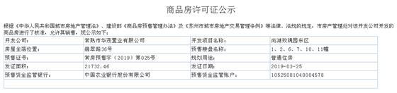 尚湖玫瑰园东区1、2、6、7、10、11幢2019-03-25通过预售许可