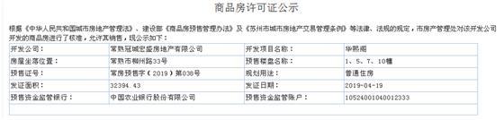 华熙阁1、5、7、10幢2019-04-19通过预售许可