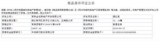 源江筑12、14幢2019-04-17通过预售许可