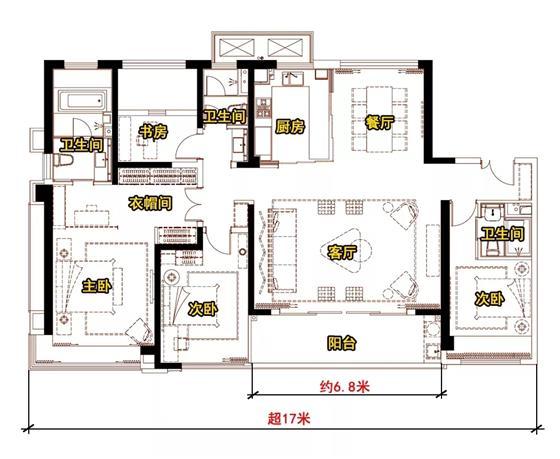 约6.8米宽客厅+4开间朝南!中南林樾三期5月11日开启认筹!