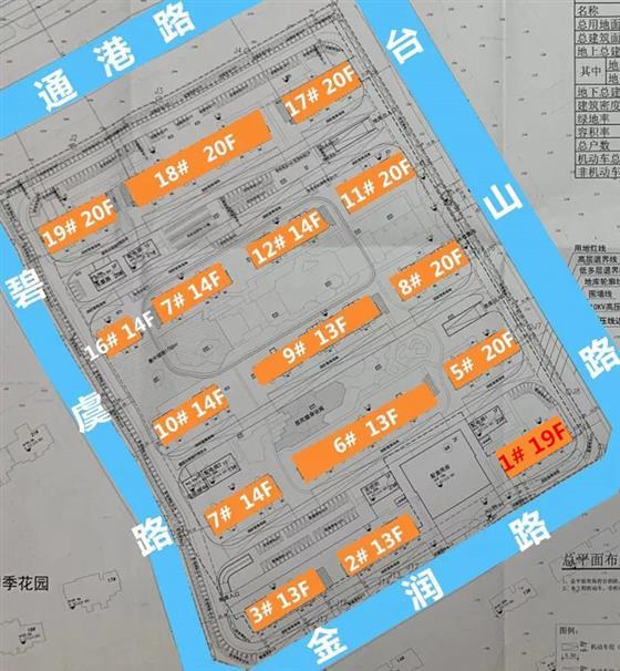 中天美好地块1幢总高改为19F规划16幢1078户
