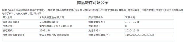 誉景华庭1、3、10幢2020-12-08通过预售许可