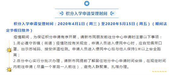 2020年常熟新市民积分入学已于4月1日启动!